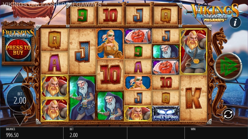 Vikings Unleashed MegaWays Slot Game