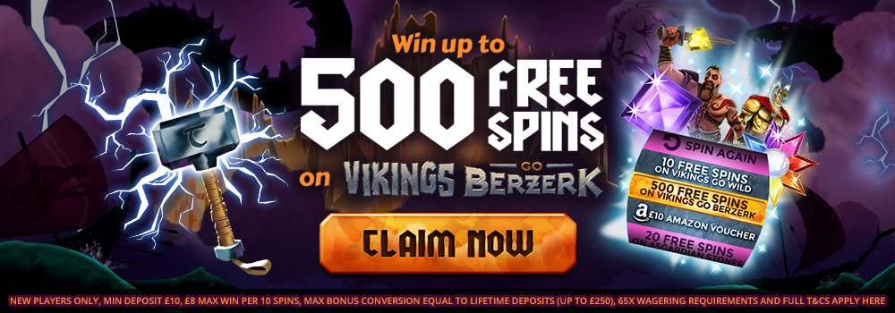 Welcome Offer 500 Free Spins Thor Slots