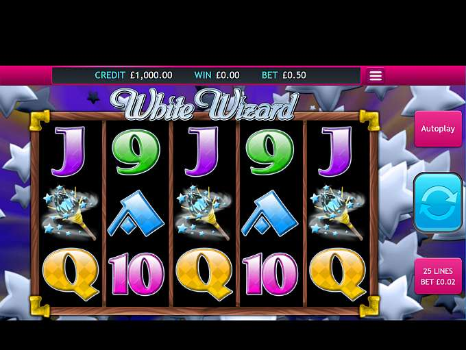 white wizard slots gameplay
