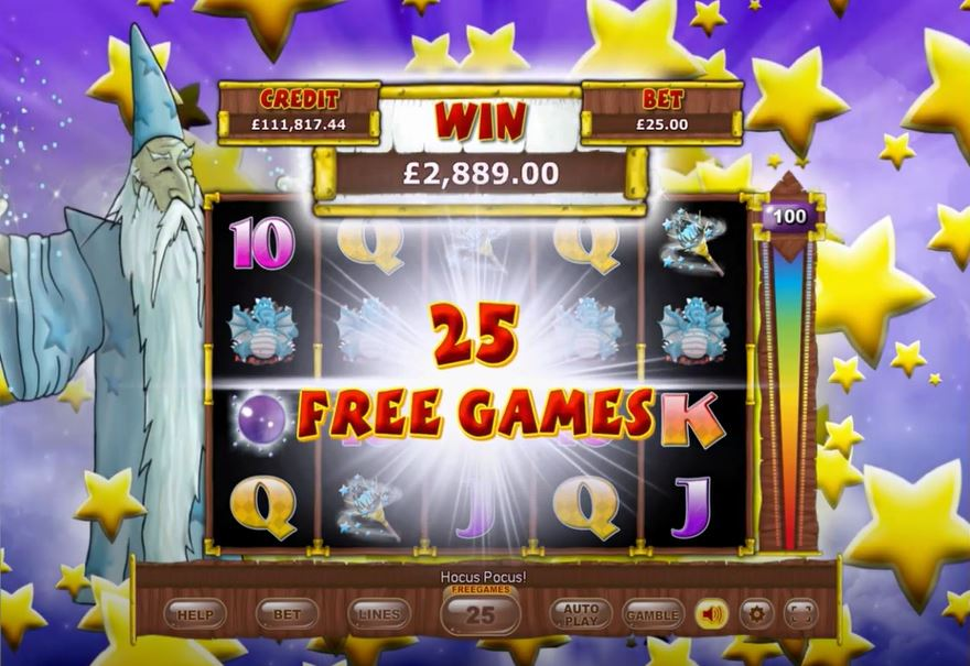 White Wizard Deluxe Slot Free Spins