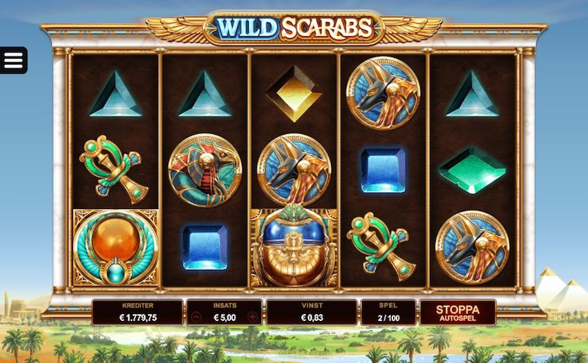 Wild Scarabs Slot Gameplay