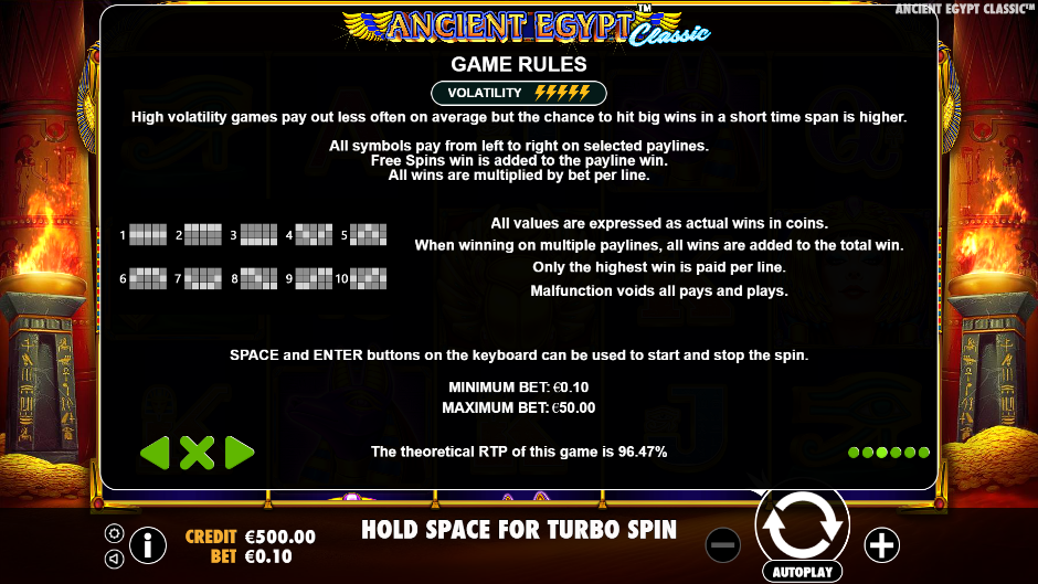 Ancient Egypt Classic Slots Games Rules