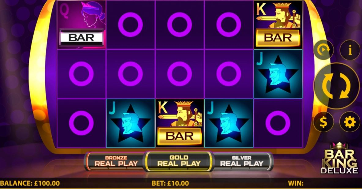 Bar King Deluxe Slot Game Play