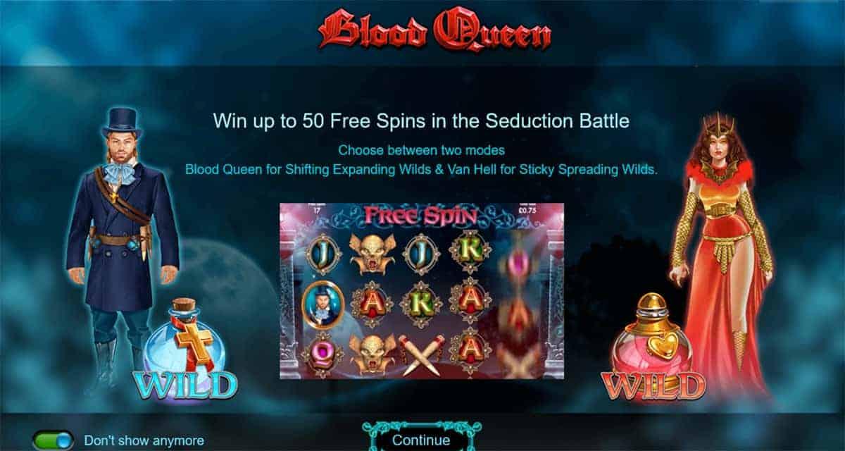 Blood Queen Slot Bonus Symbols