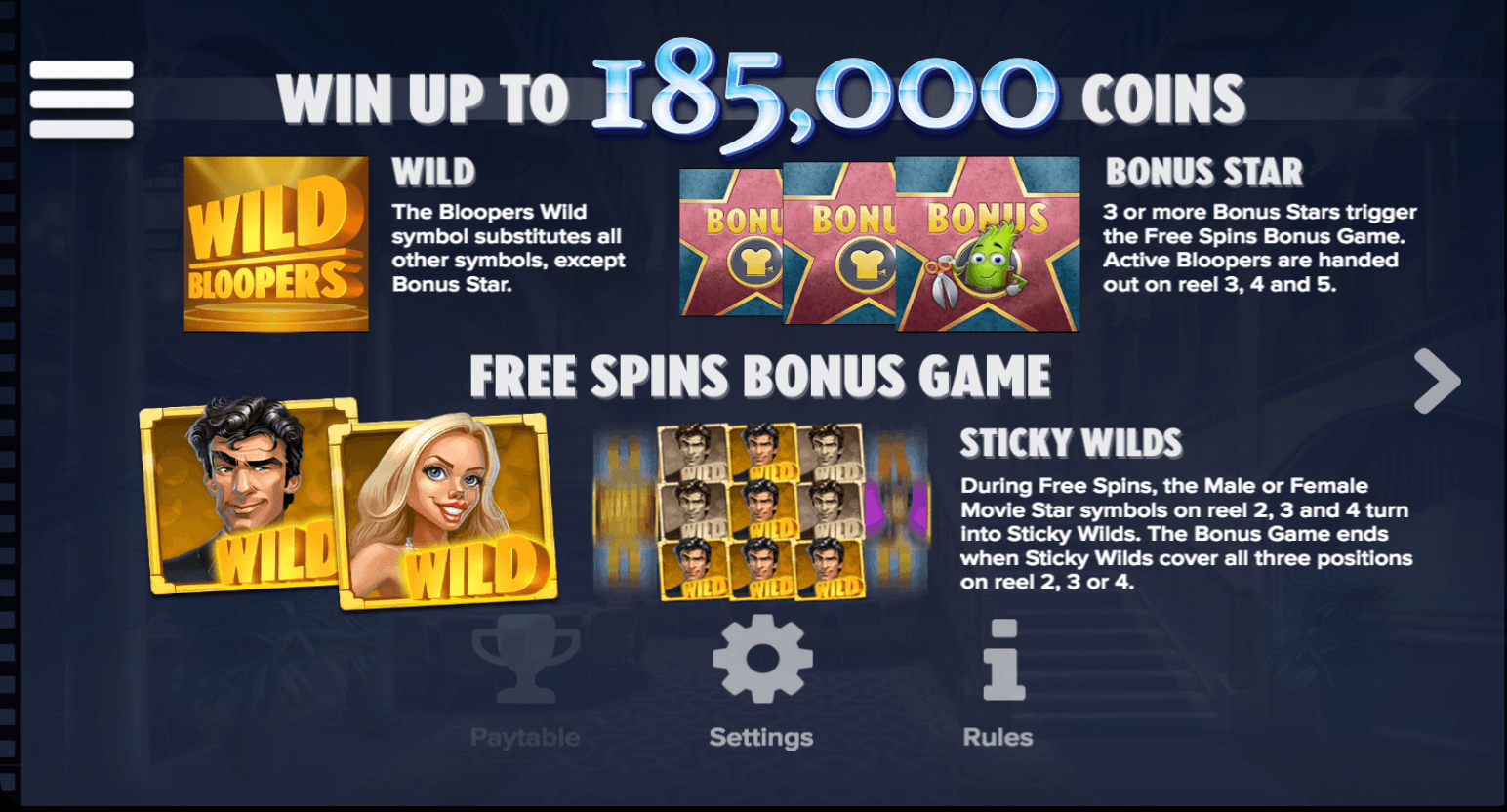 Bloopers Slot Free Spins