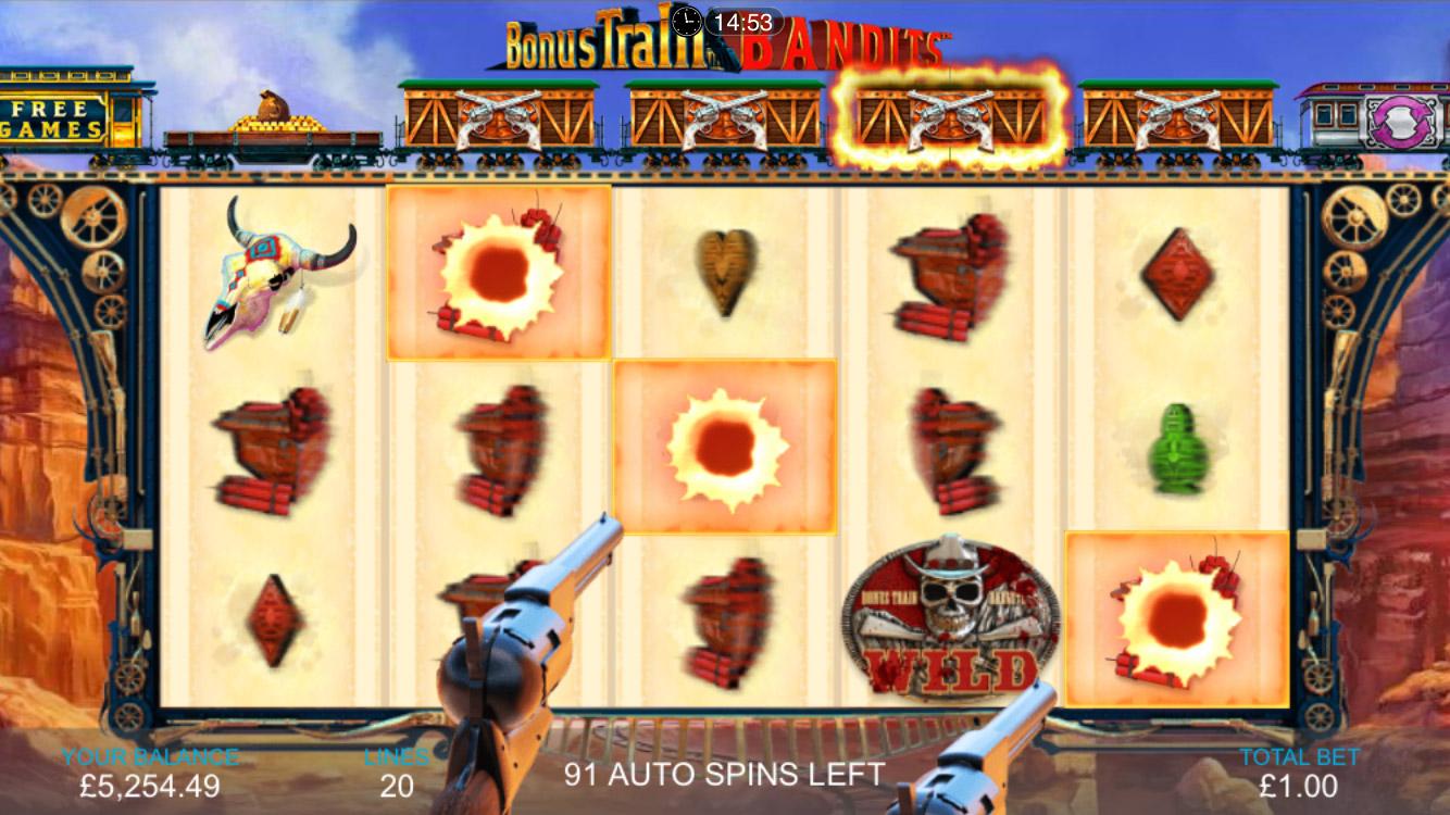 Bonus Train Bandits Slot Gameplay