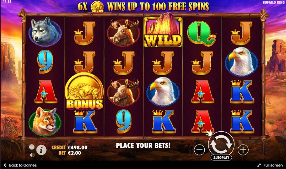 Buffalo King Slot Game Play