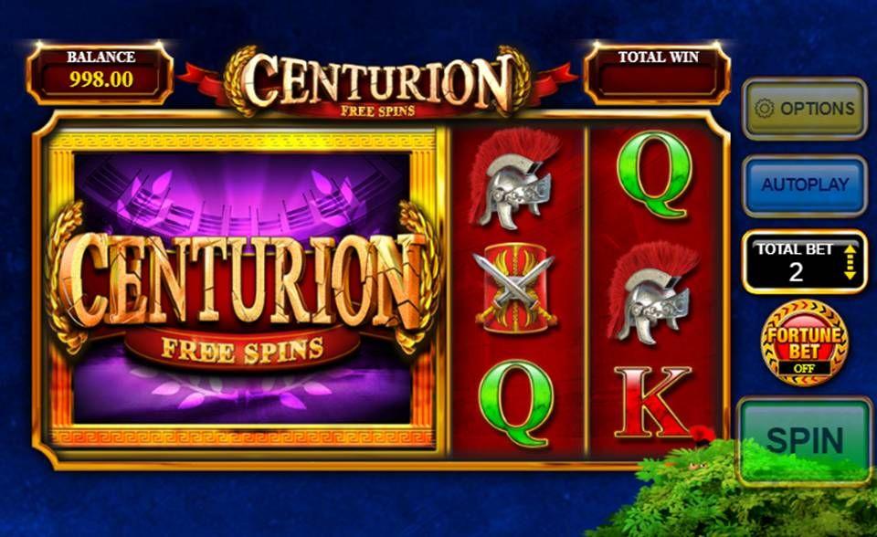Centurion Free Spins UK Slots