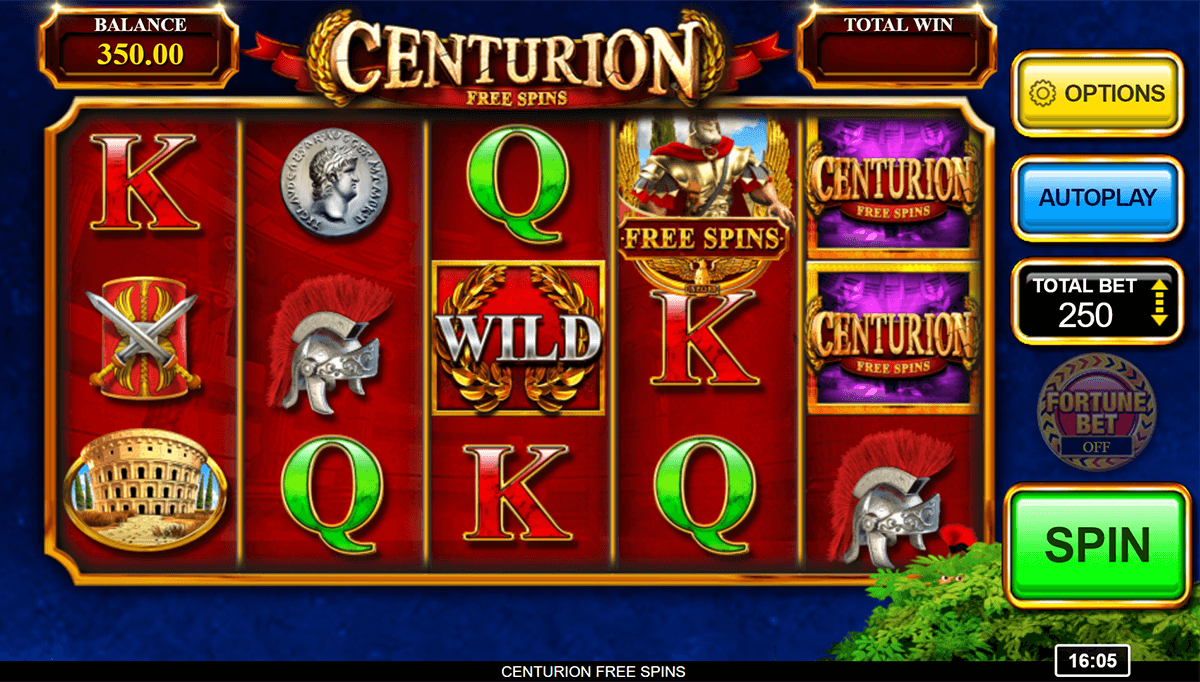 Centurion Free Spins Slots