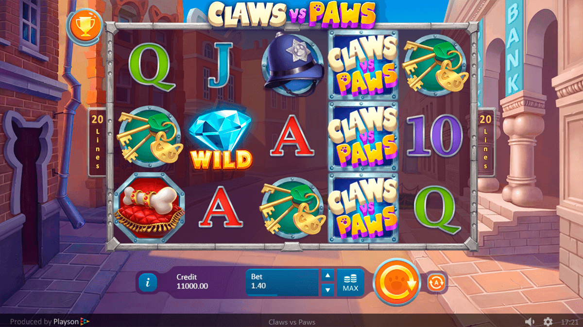 Claws Vs Paws Slot Game