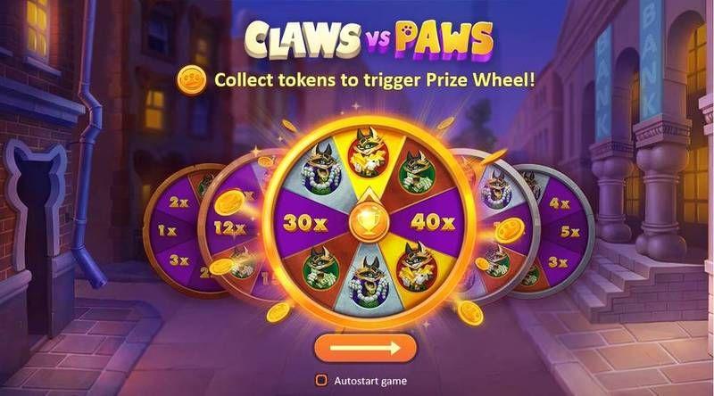 Claws Vs Paws Slot Bonus Wheel