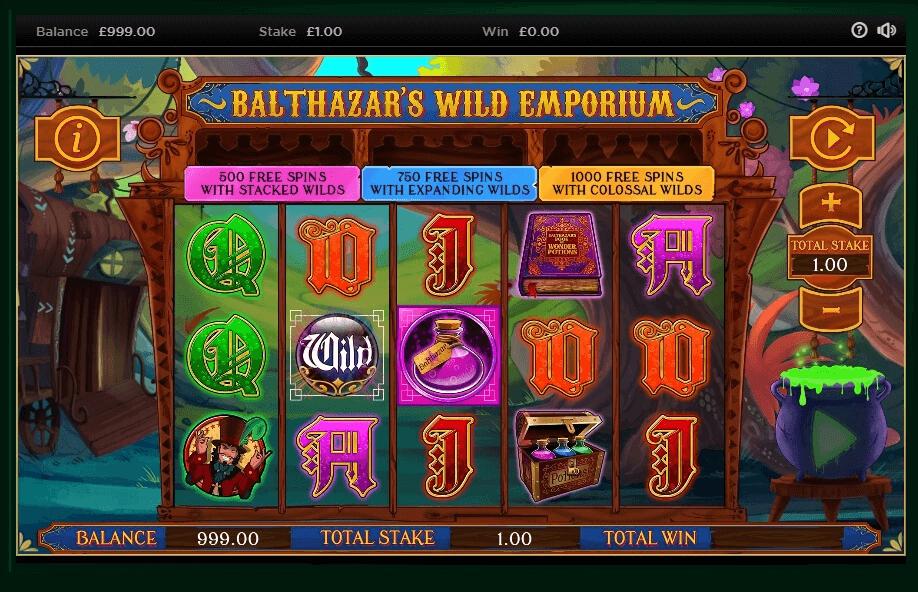 Balthazar's Wild Emporium Slots