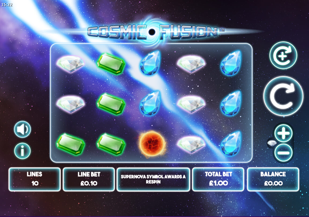 Cosmic Fusion Mini Slot Game
