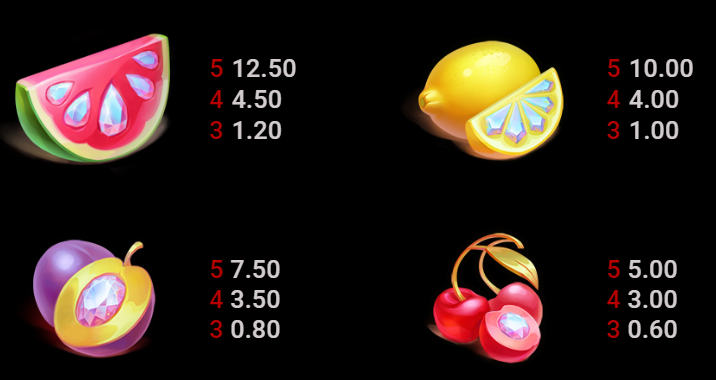 Deco Diamonds Slot Symbols