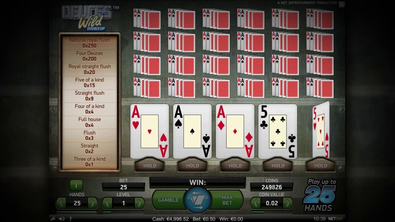 Deuces Wild Double Up Slot UK