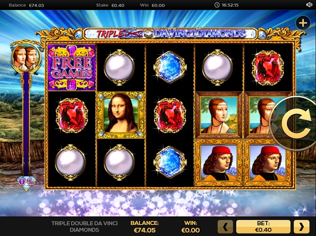 Double Da Vinci Diamonds casino gameplay