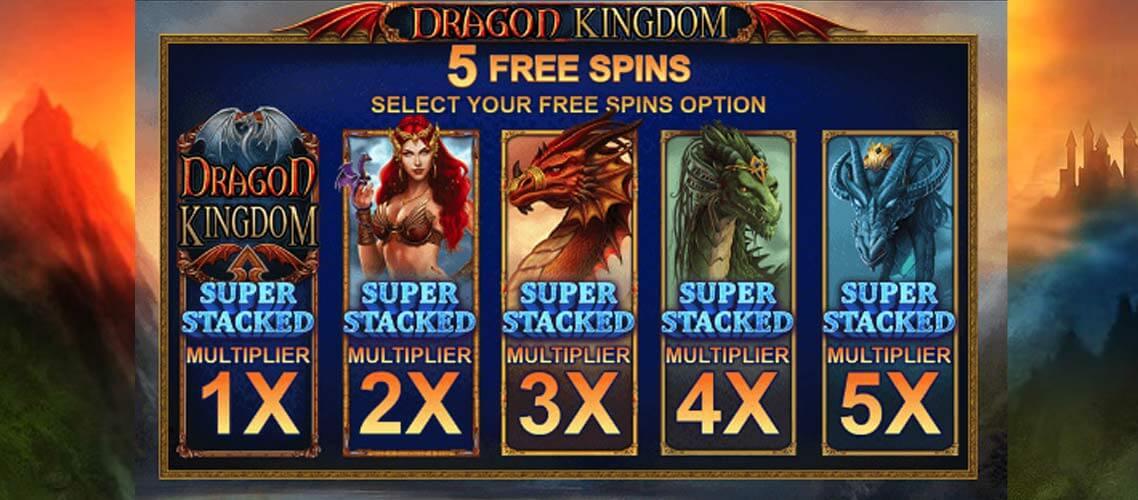 Dragon Kingdom Free Spins Slots