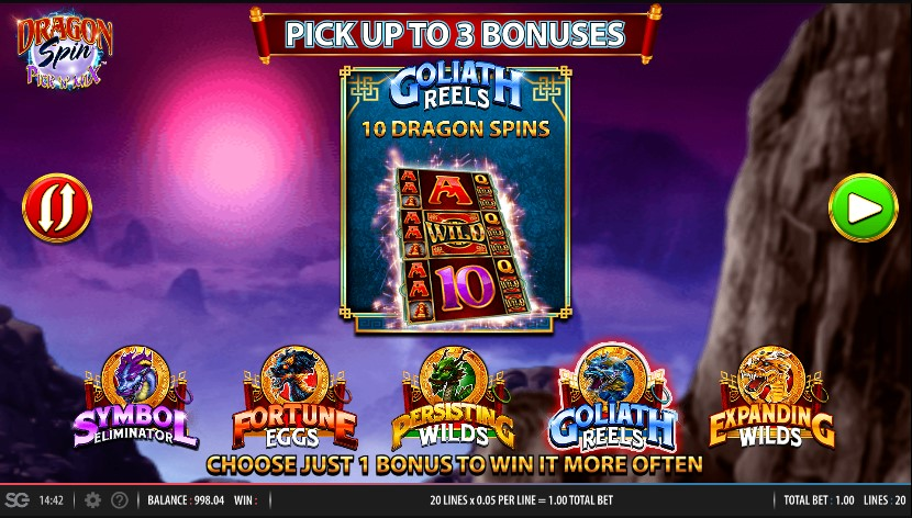 Dragon Spin Pick N Mix Slot Bonus Features