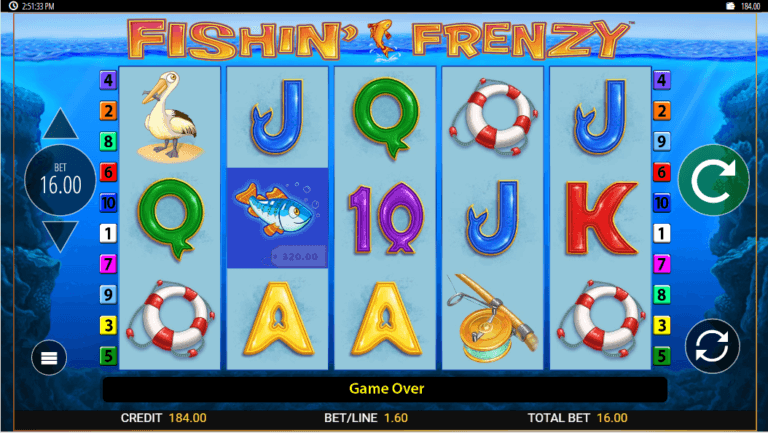 Fishin Frenzy Slot Gameplay