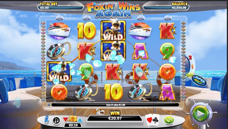 Foxin' Wins Again Slot Reels