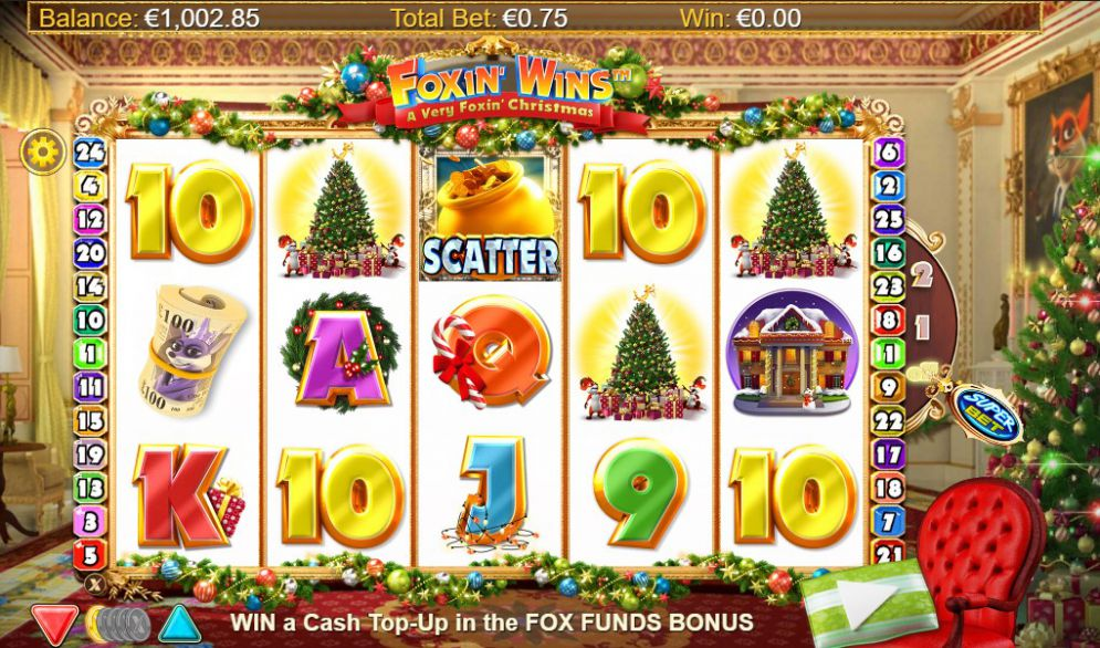 Foxin' Wins Christmas Slot Reels