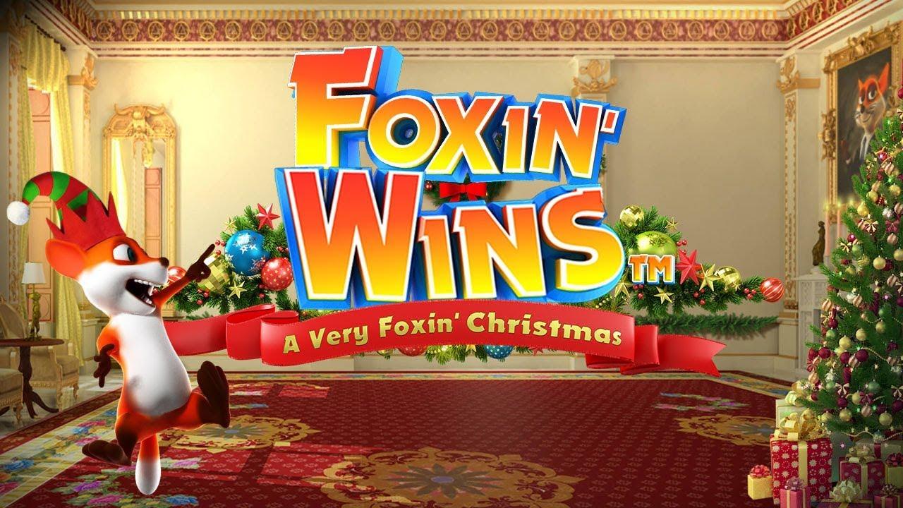 Foxin' Wins Christmas Slot Logo Slots Review