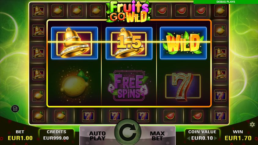 Fruits Go Wild Slot Win