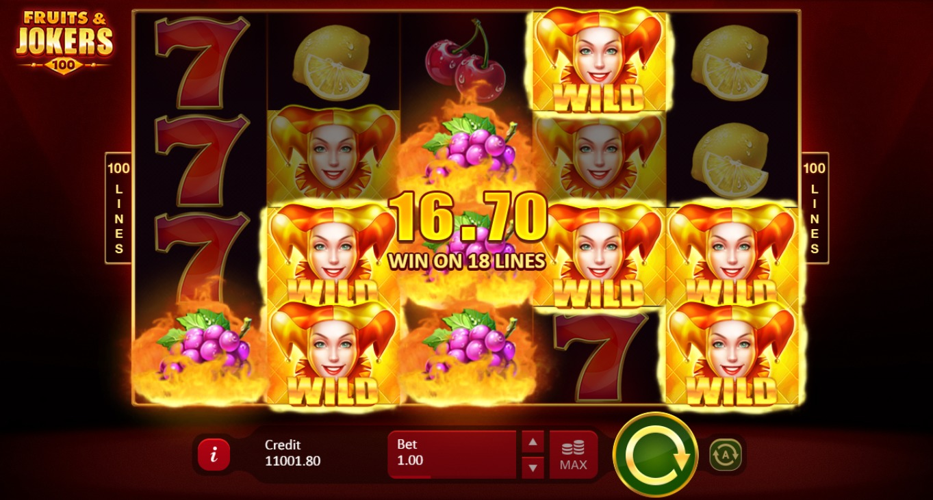 Fruits & Jokers: 100 Lines Slots Big Win