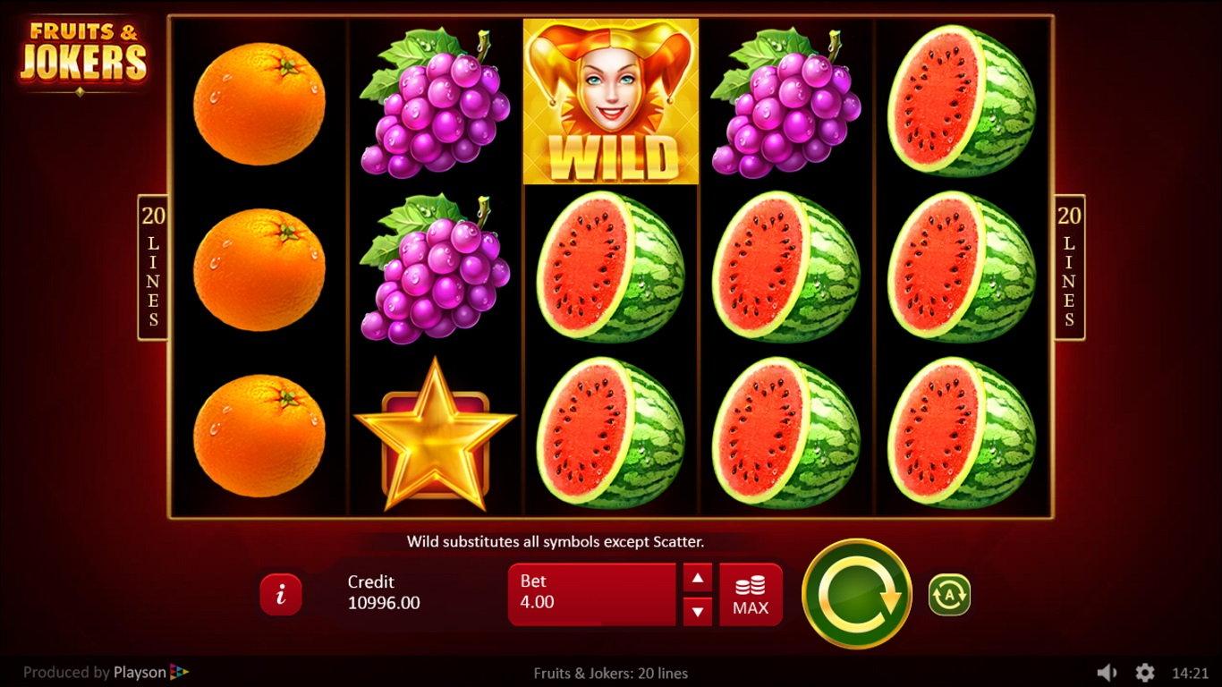 Fruits & Jokers Slot Gameplay