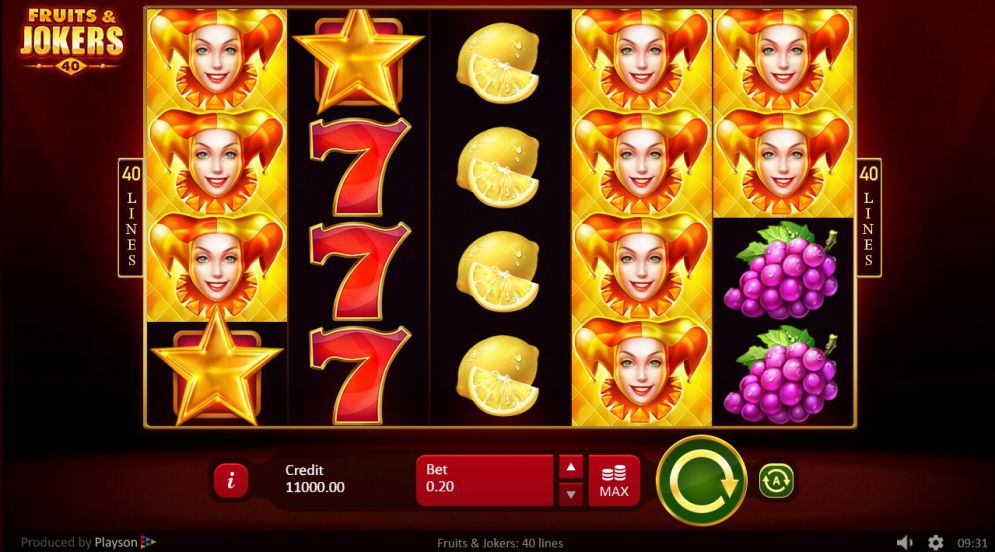 Fruits & Jokers: 40 Lines Slots Reels