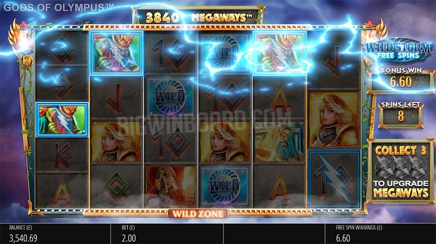 Olympus slot gameplay
