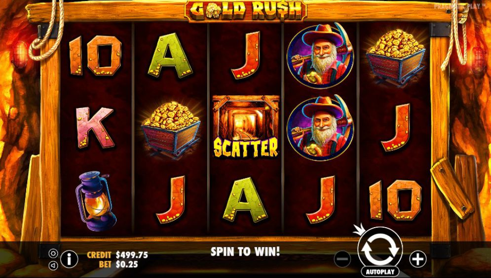 Gold Rush gameplay slot
