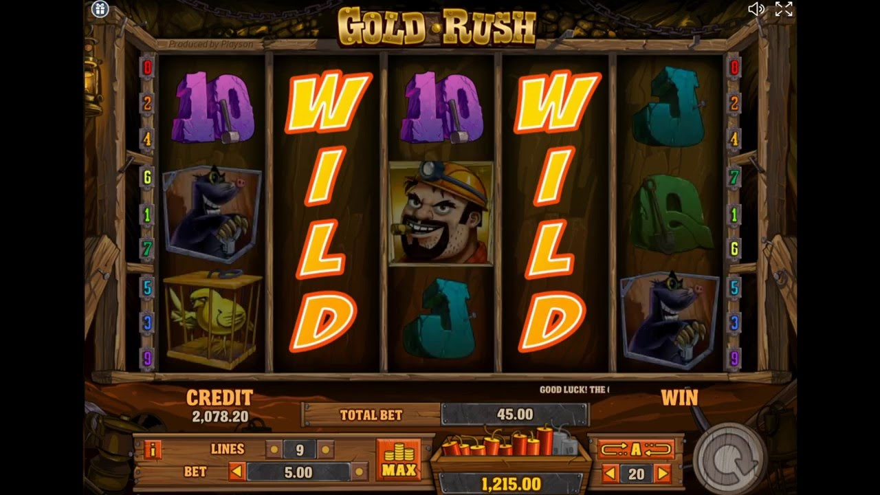 Gold Rush Slot Wilds