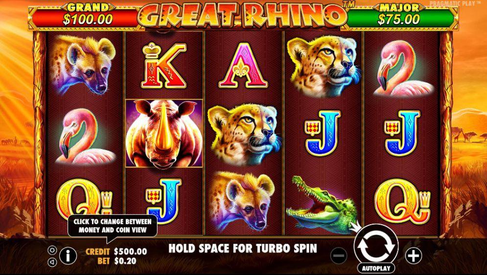 Great Rhino Slot Game Play