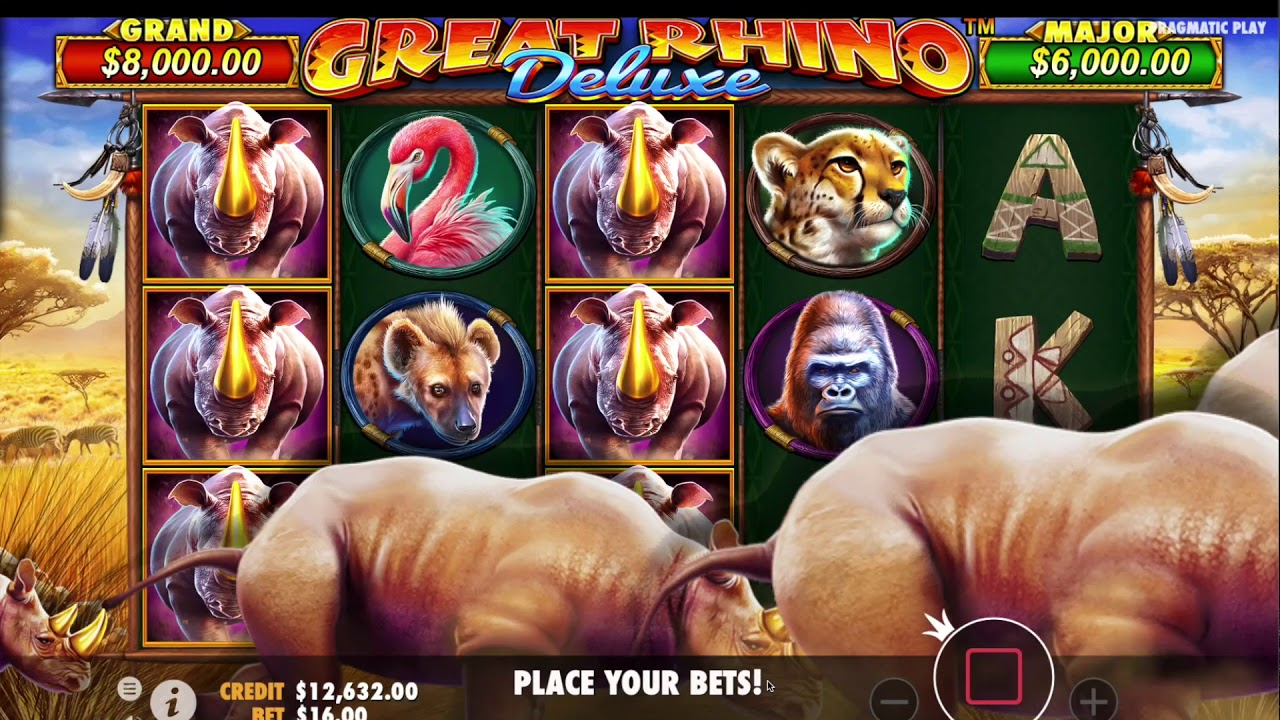 Great Rhino Deluxe Free Slots