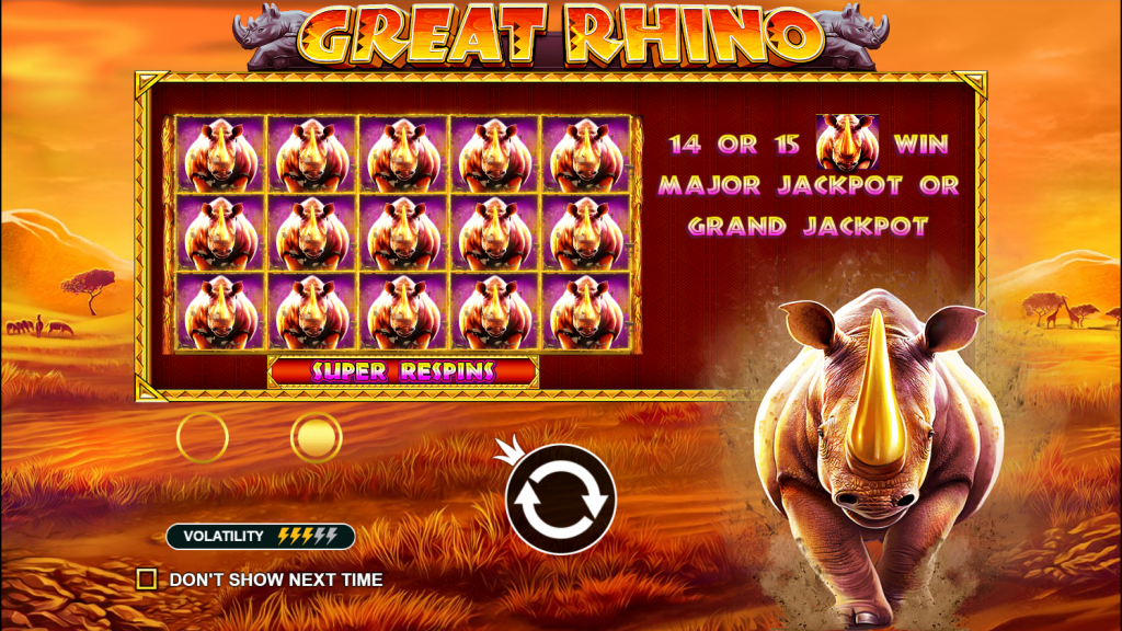Great Rhino Slots Bonus