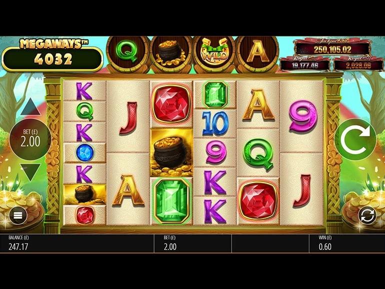 Irish Riches Megaways Jackpot King Slot Gameplay