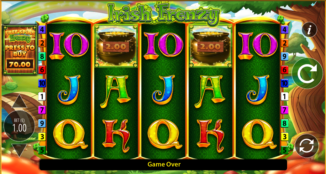 Irish Frenzy Slots Reels