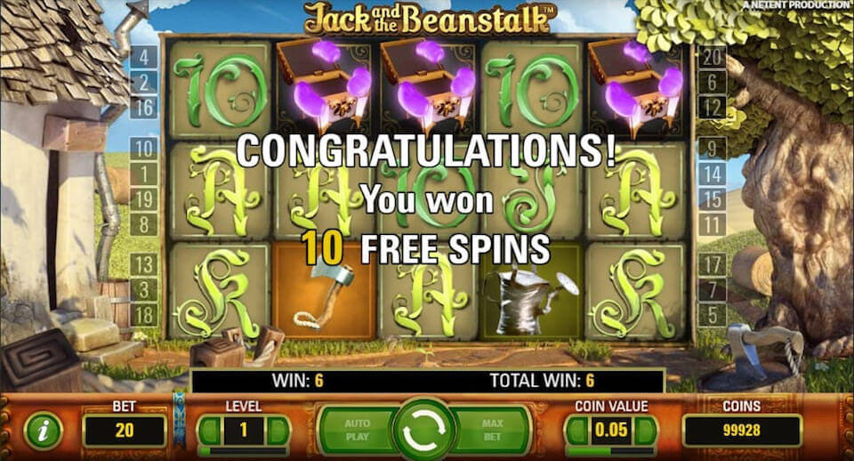 Jack and the Beanstalk Slot Bonus Features
