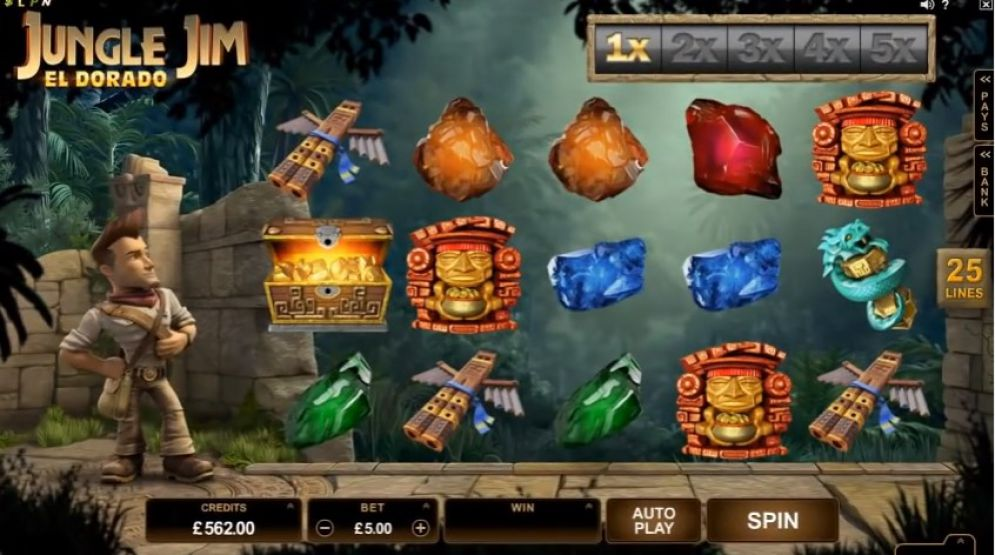 jungle jim el dorado slot gameplay