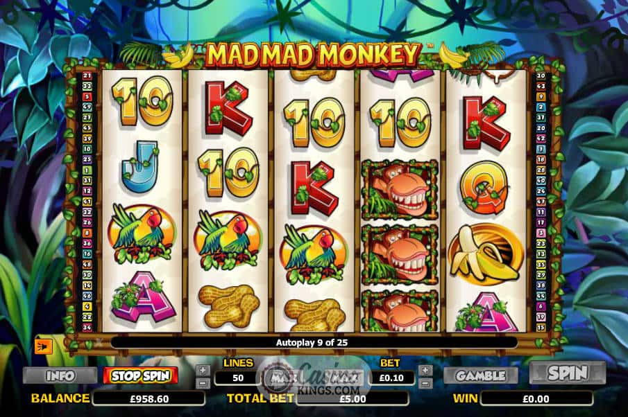 Mad Mad Monkey Slot Gameplay