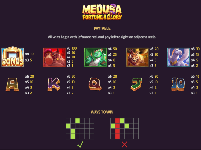 Medusa Fortune & Glory Free Slots
