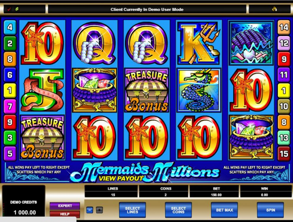 Mermaids Millions casino game