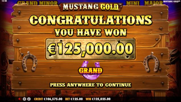 Mustang Gold Slot Bonus Features