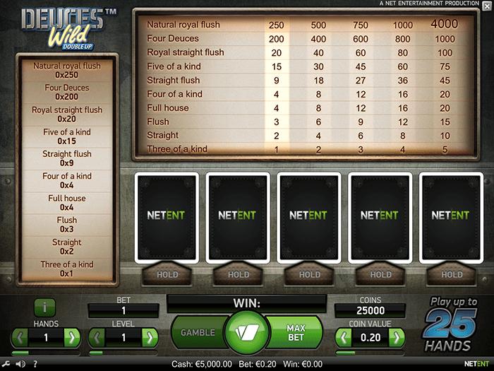 Deuces Wild Double Up Slot Game