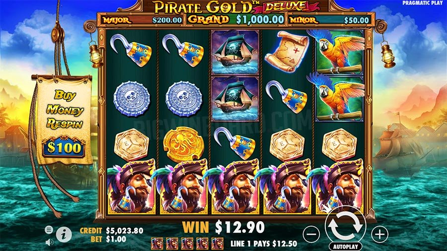 Pirate Gold Deluxe Slots Reels