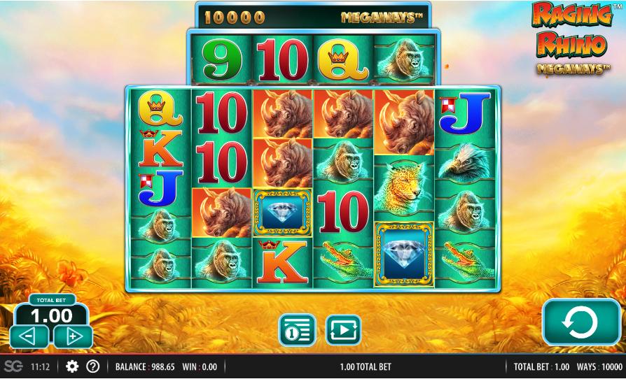 Raging Rhino MegaWays Slot Game