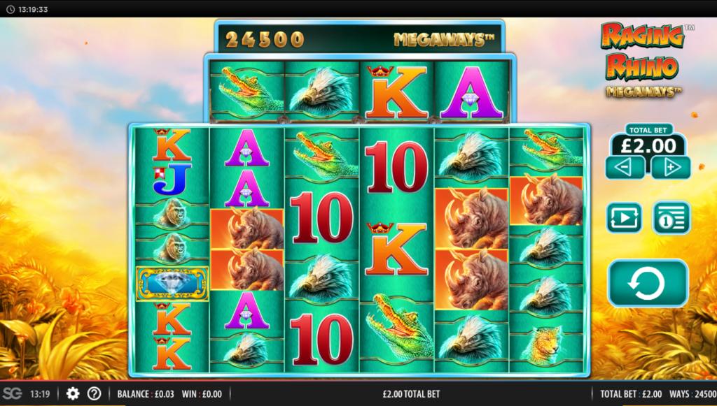 Raging Rhino MegaWays Free Slots