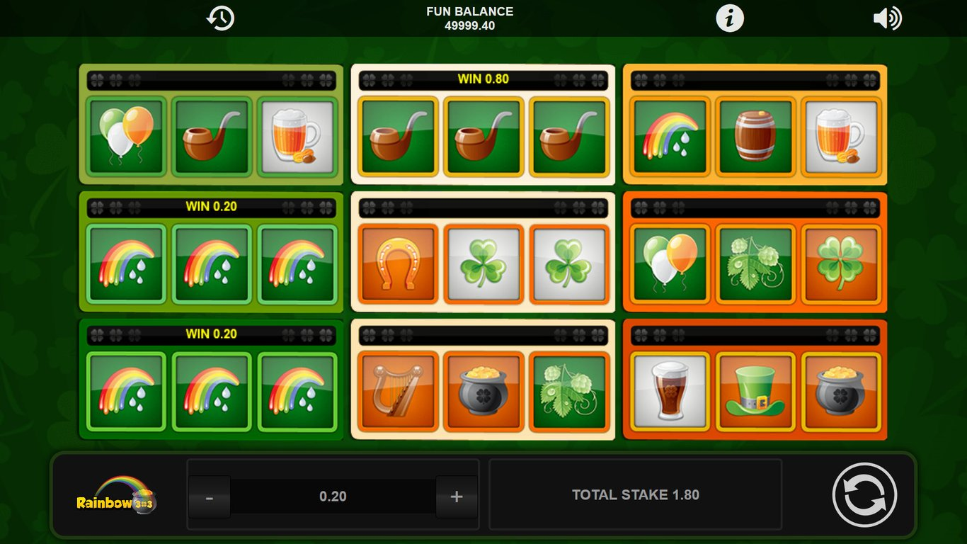 Rainbow 3x3 Free Slots