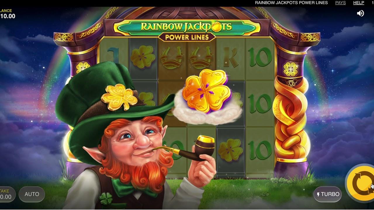 Rainbow Jackpots Power Lines Slots Online